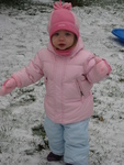 Playing in the snow