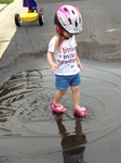 Puddle stomping!